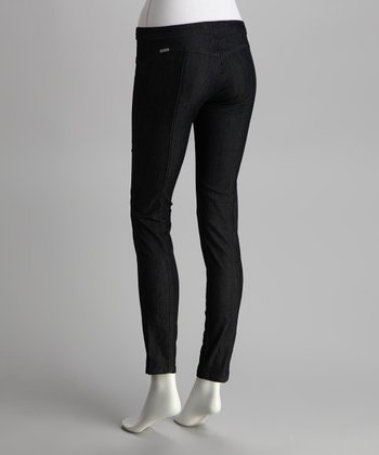 Dark Velvet Blue Jeggings