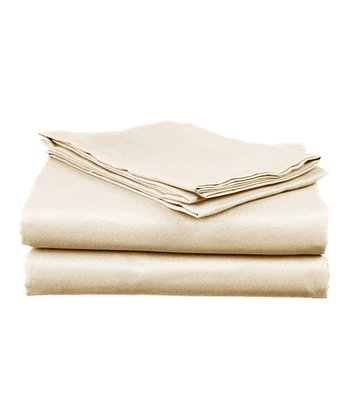 Ivory Sateen Cotton Sheet Set