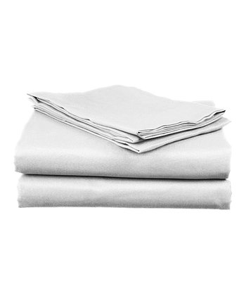 White Sateen Cotton Sheet Set