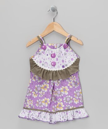 Lilac & Olive Floral Dress - Toddler & Girls