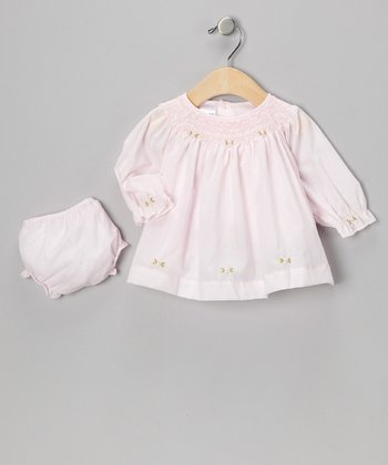Pink Smocked Dress & Diaper Cover - Infant
