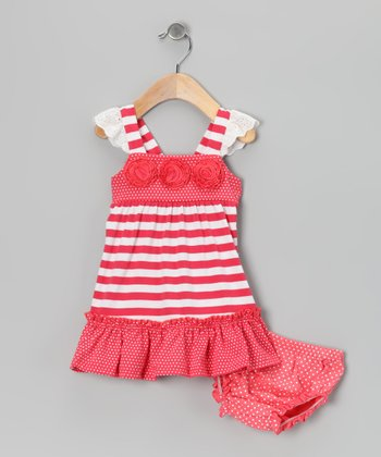 Coral Stripe Dress - Infant, Toddler & Girls