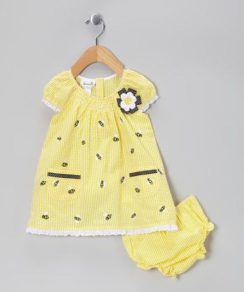 Yellow Bee Dress - Toddler