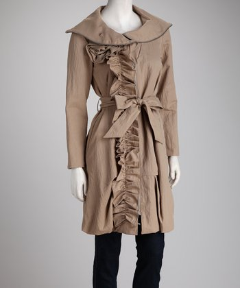 Champagne Trench Coat - Women