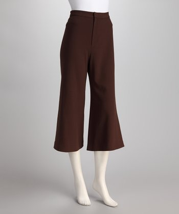 Chocolate Flare Capri Pants
