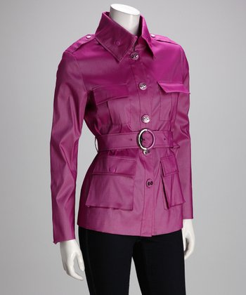 Berry Taffeta Safari Jacket