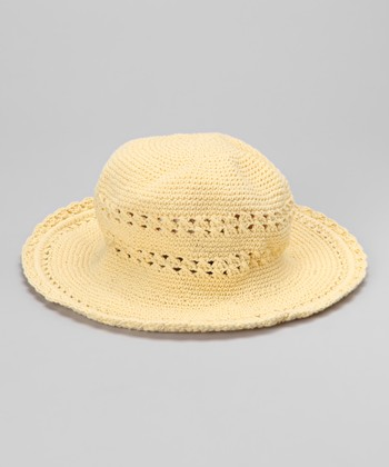 Light Yellow Crocheted Sunhat