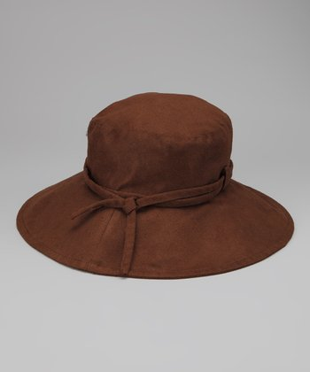 Brown Tie Floppy Sunhat