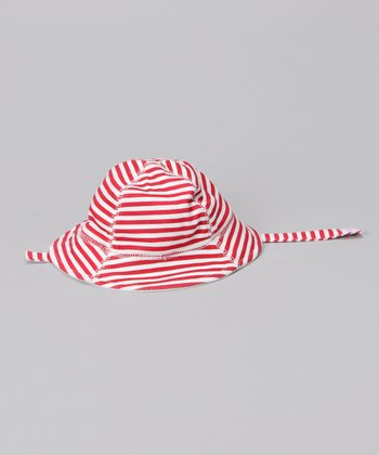 Red Stripe Strap Sunhat