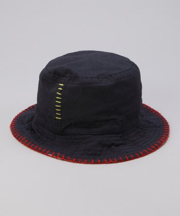 Navy & Red Reversible Bucket Hat