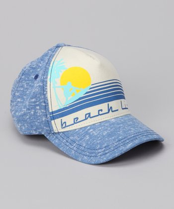 Blue & White 'Beach Life' Trucker Hat