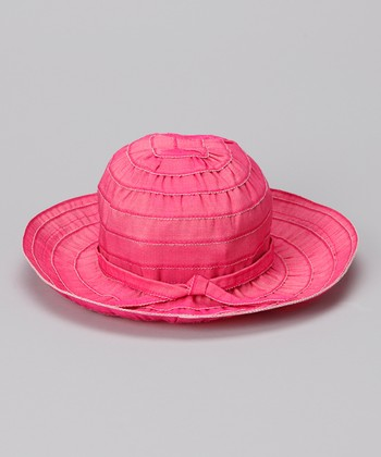 Hot Pink Tie Sunhat