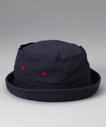 Navy Pork Pie Bucket Hat