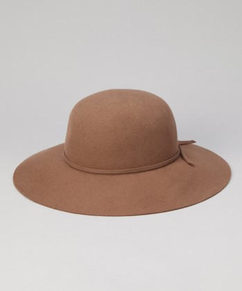 Brown Floppy Wool Sunhat