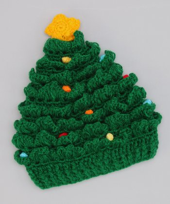 Green Christmas Tree Beanie