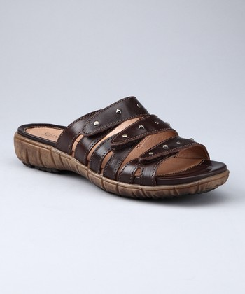 Dark Brown Diana Slide - Women