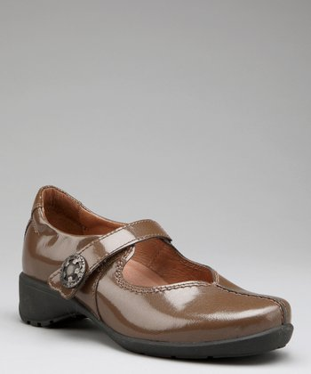 Camel Leather Trude Mary Jane