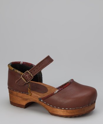 Brown Wood Glenda Closed Clog - Kids