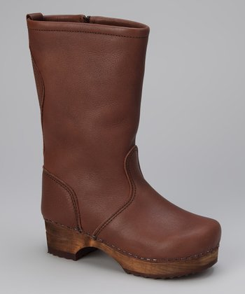 Brown Wood Gita Boot - Kids
