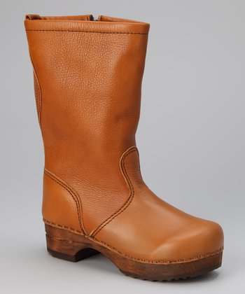 Tan Wood Gita Boot - Kids
