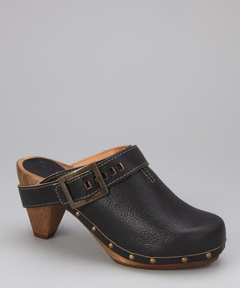 Black Wood Parmona Cone Clog - Women