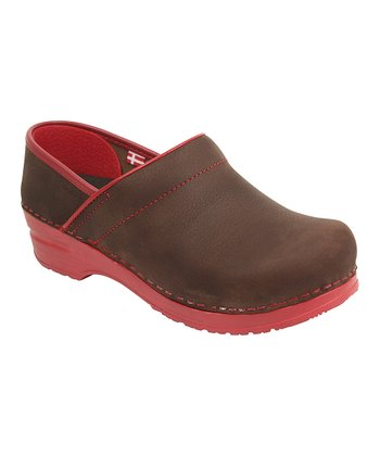 Brown & Red Original Clog - Women