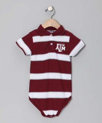 Texas A&M Aggies Polo Bodysuit - Infant
