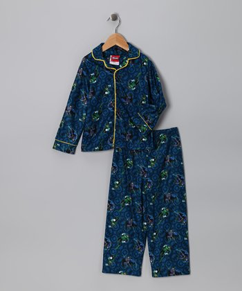 Blue Batman Pajama Set - Toddler