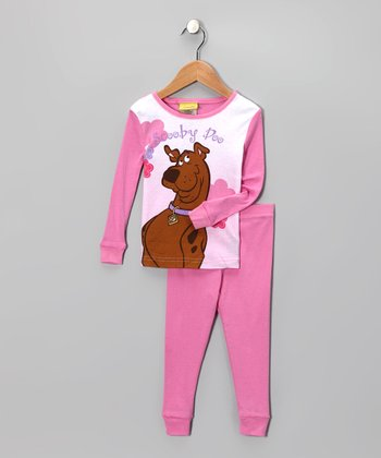 Pink Scooby-Doo Portrait Pajama Set - Girls