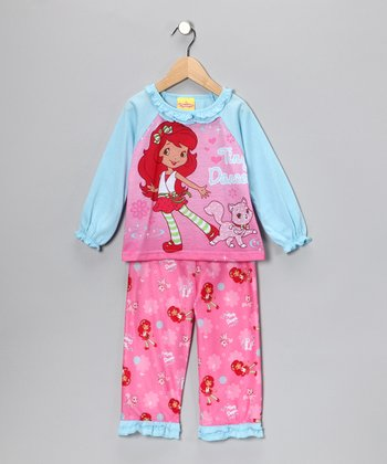 Pink & Aqua 'Tiny Dancer' Pajama Set - Toddler & Girls