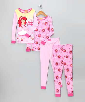 Pink 'Berry Pretty' Strawberry Shortcake Pajama Set - Girls