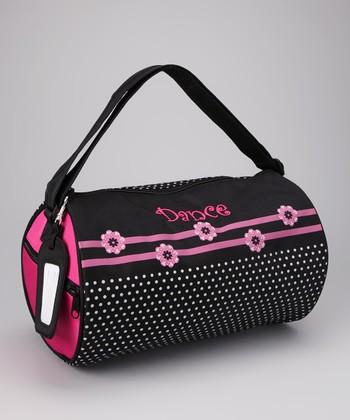 Pink Flower 'Dance' Duffel Bag