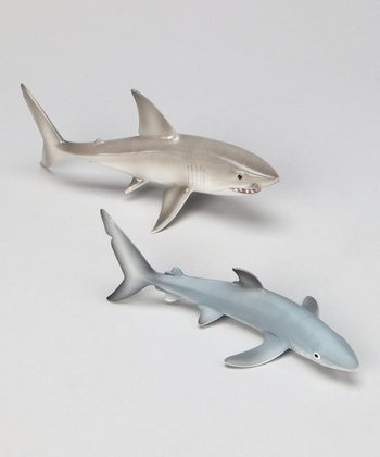 Blue Shark & White Shark Set