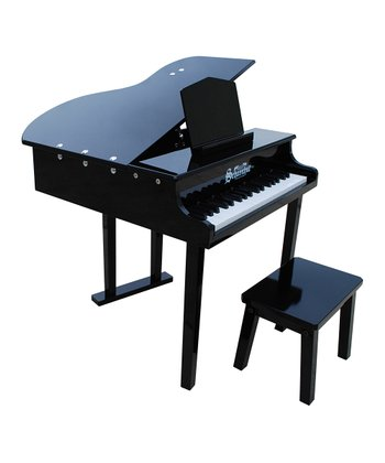 Black 37-Key Concert Grand Piano & Bench