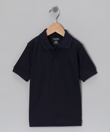Navy Piqué Short-Sleeve Polo - Toddler & Boys