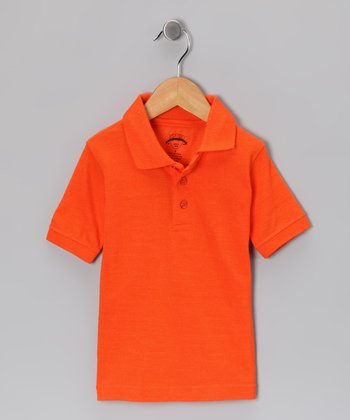 Orange Piqué Short-Sleeve Polo - Toddler & Boys