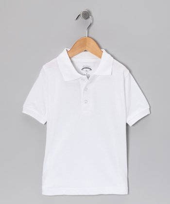 Ivory Piqué Short-Sleeve Polo - Toddler & Boys