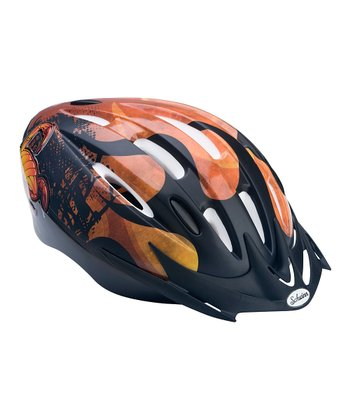 Orange Flame Microshell Helmet - Toddler