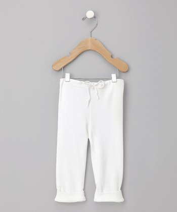 White Organic Elf Pants - Infant