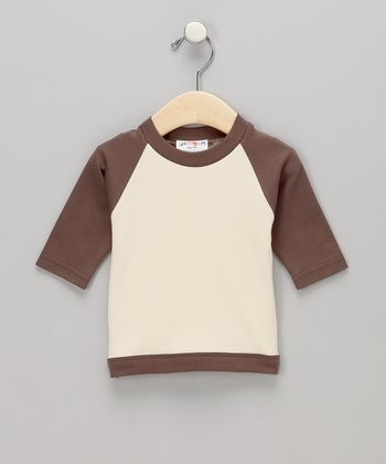 Brown Kamon Organic Raglan Tee - Infant