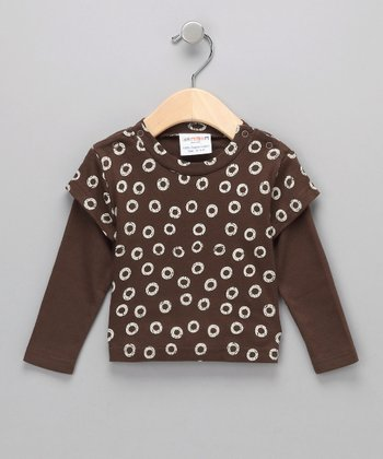 Brown Organic Layered Tee - Infant & Toddler