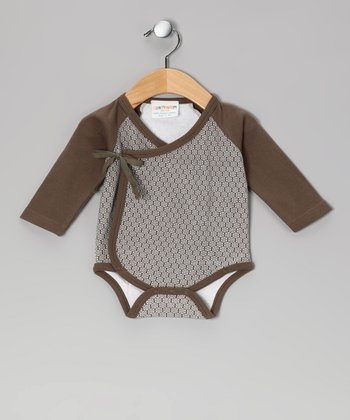 Tea Flower Organic Wrap Bodysuit - Infant