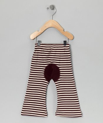 Eggplant Stripe Organic Pants - Infant