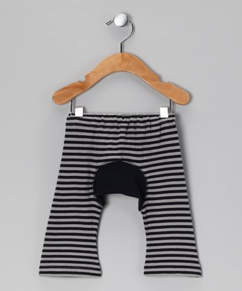Navy Stripe Organic Pants - Infant