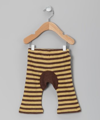 Yellow Stripe Organic Pants - Infant