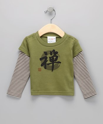 Green Tea Zen Organic Layered Tee - Infant