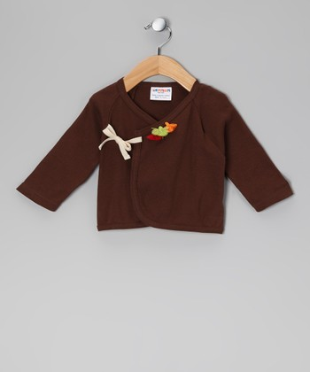 Chocolate Kabuki Organic Wrap Top - Infant