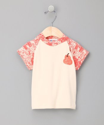 Red Pear Organic Raglan Tee - Infant & Toddler
