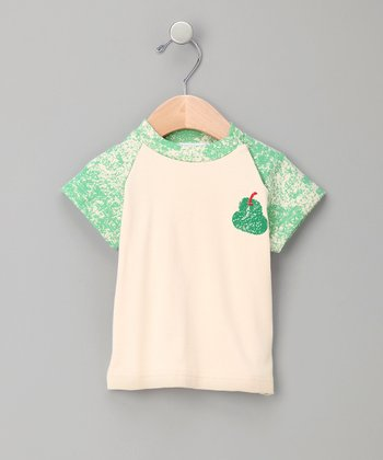 Green Pear Organic Raglan Tee - Infant & Toddler