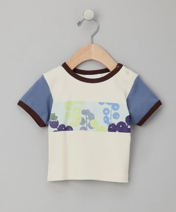 White Frog Organic Raglan Tee - Infant & Toddler